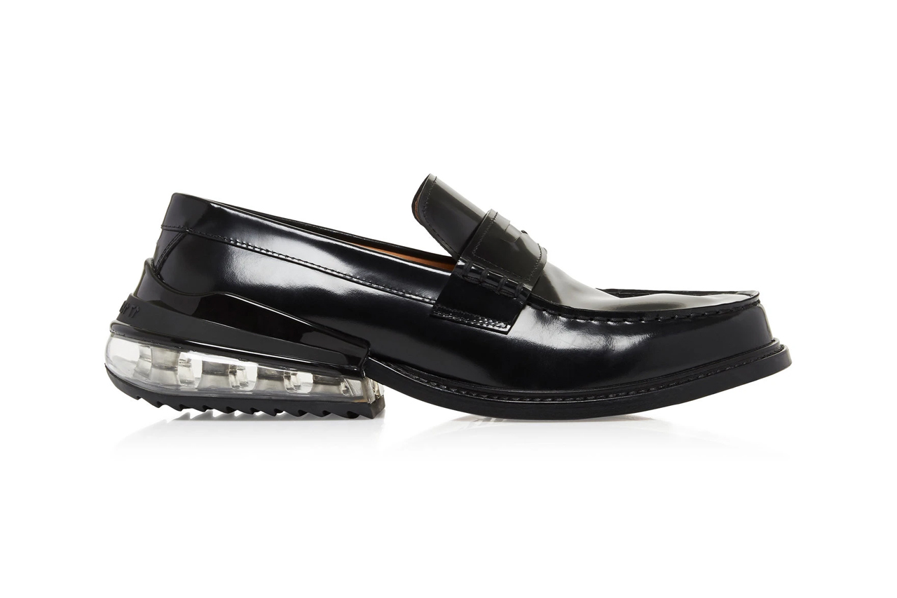 maison margiela bounce bubble heel leather loafers pantent glossy