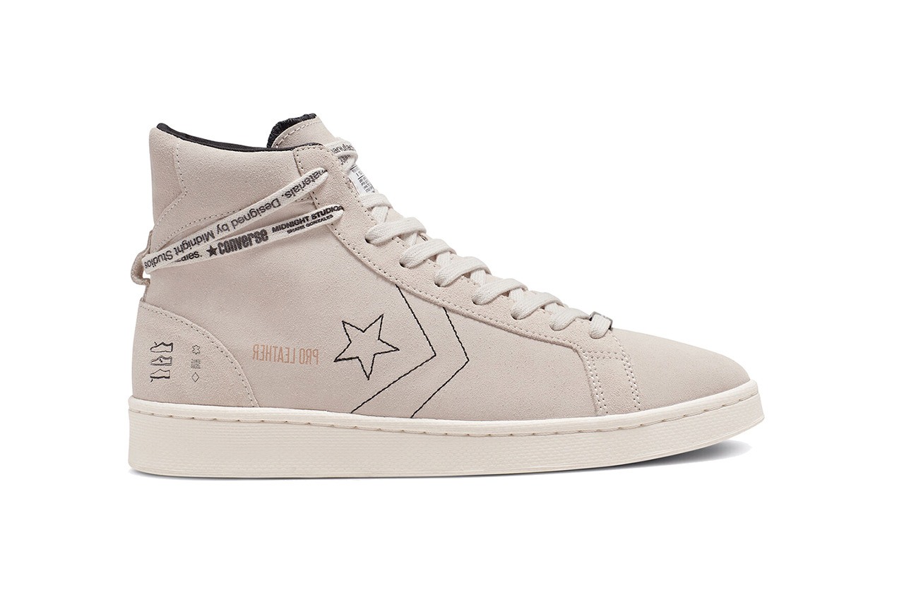 "Midnight Studios x Converse Pro Leather ""White/Egret/Black"" Release Information Inside-Out Sneaker Sneakersnstuff Shane Gonzales Closer Look Reveal Collaboration Star"
