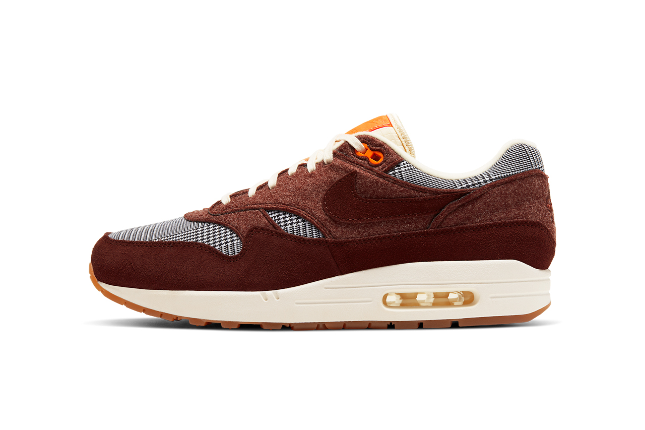 nike air max 1 bronze eclipse black white tweed CT1207 200 release date info photos price sartorial traditional menswear