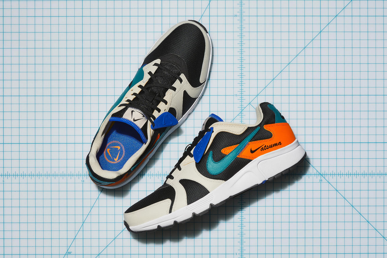 nike atsuma material waste efficiency tan black teal green blue orange white release date info photos price