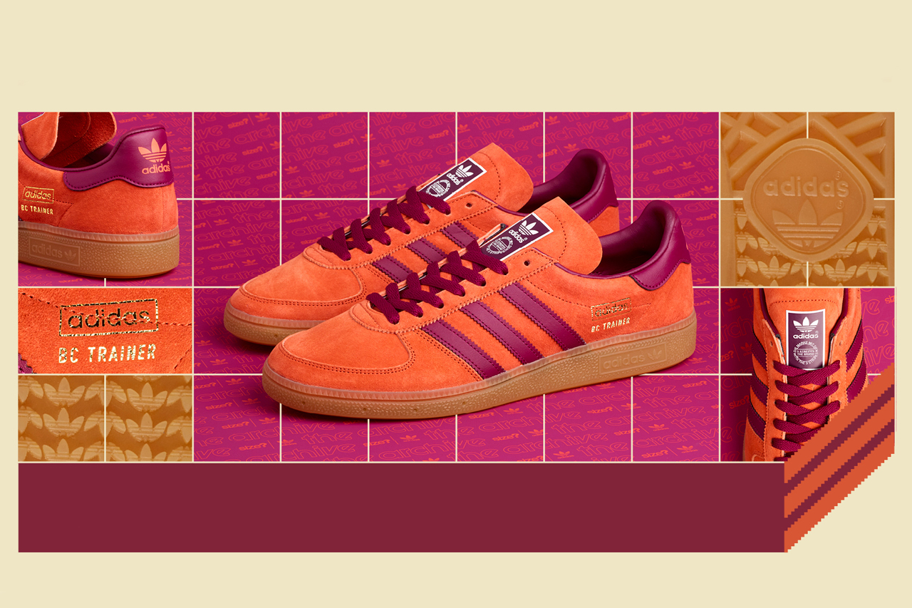 size adidas bc trainer handball orange plum purple gum tan release date info photos price