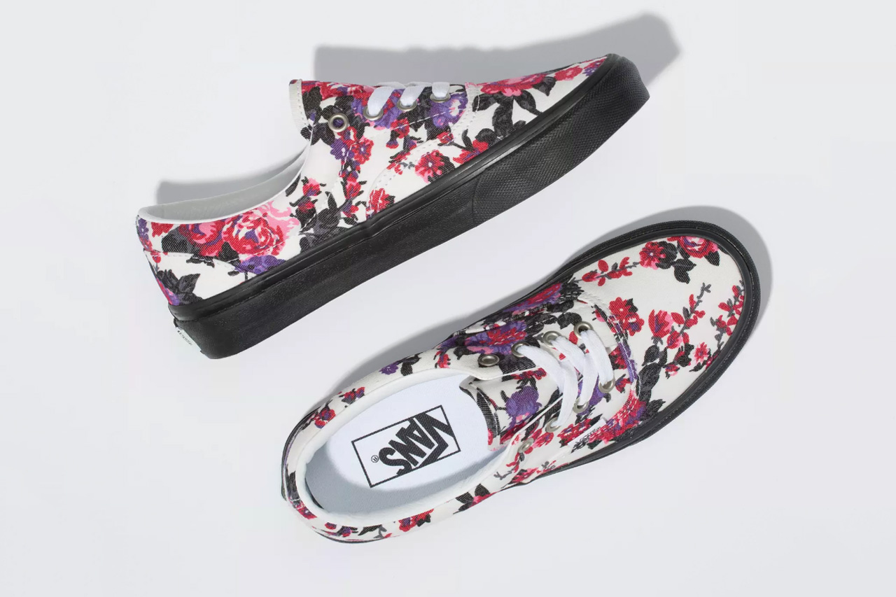 vans era floral flowers white black purple red pink release date info photos price