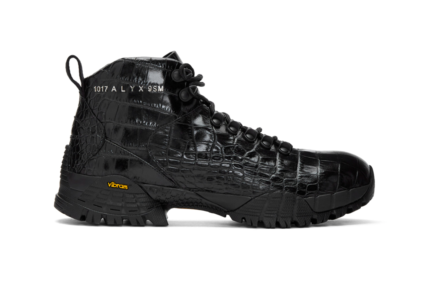 1017 ALYX 9SM Croc Hiking Boots Release Info Date Buy Price Black SSENSE Matthew M Williams