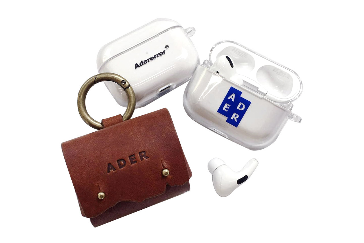 ADER error AirPod Pro Case Leather Carry Pouch accessories neck pillow mousepad notepad amenities kit apple headphones earphones life goods novelties mini case clip on sketchpad