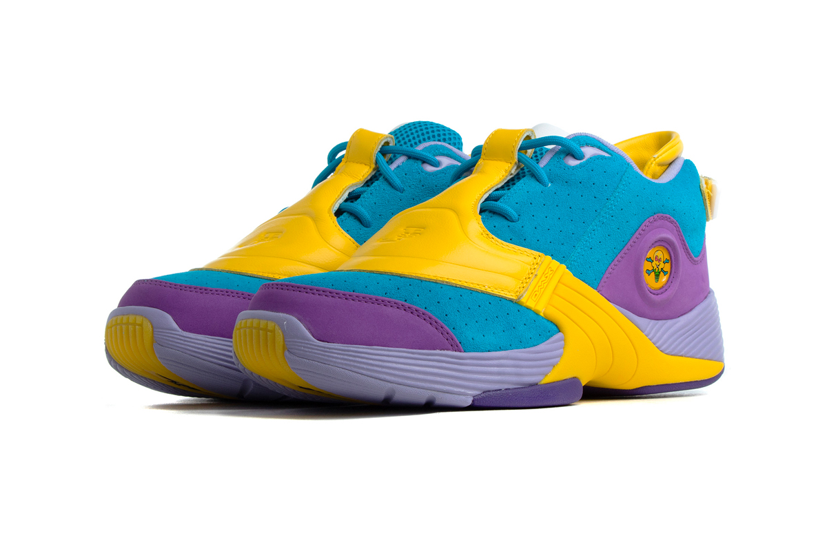 Billionaire Boys Club Ice Cream Reebok Answer V Moon Mist bold teal yellow purple pharrell williams footwear shoes sneakers kicks trainers runners allen iverson hang tag fall winter 2020