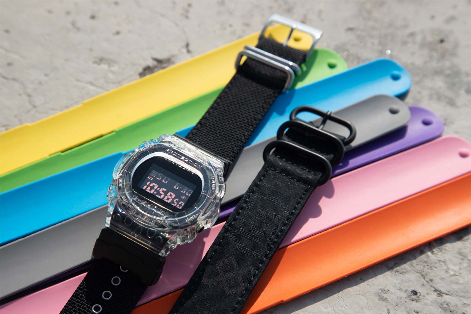 CLOT Casio G-SHOCK DW-5750 Release Info Date Price Buy Edison Chen Kevin Poon KPee Straps Yellow Green Blue Grey Purple Pink Red Black Silk Royale