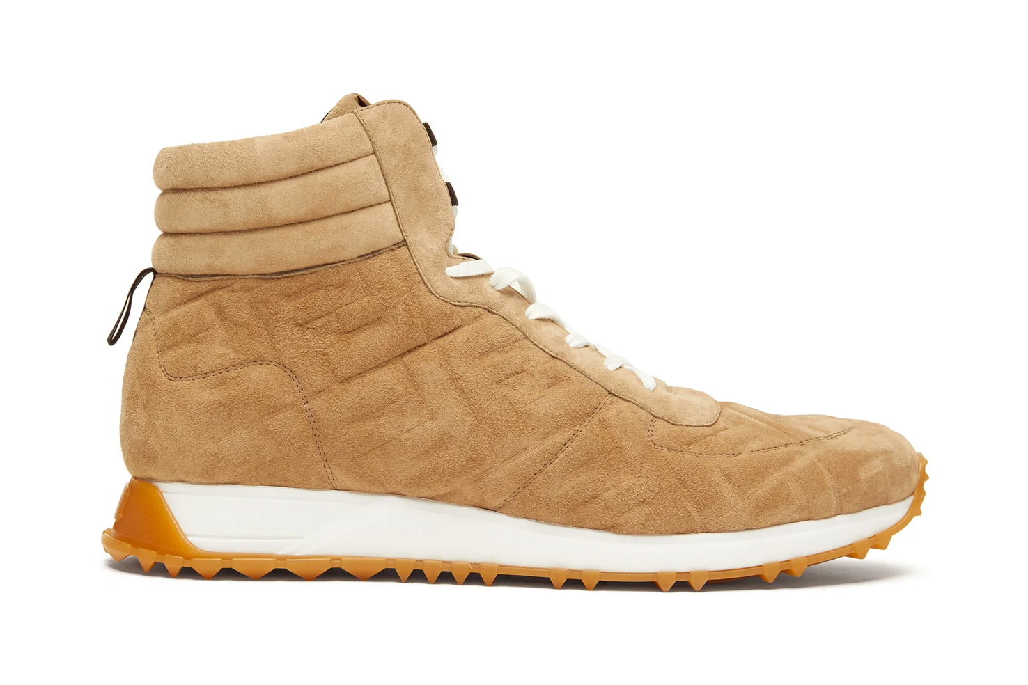 Fendi FF-Embossed High-Top Suede Trainers Release shoes military trainer shoes footwear kicks sneakers suede