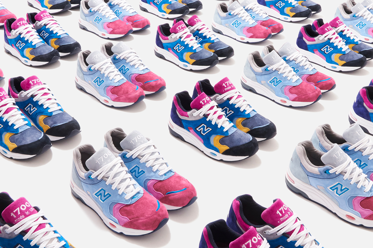 kith new balance 1700 the colorist ronnie fieg blue grey purple black yellow white release date info photos price