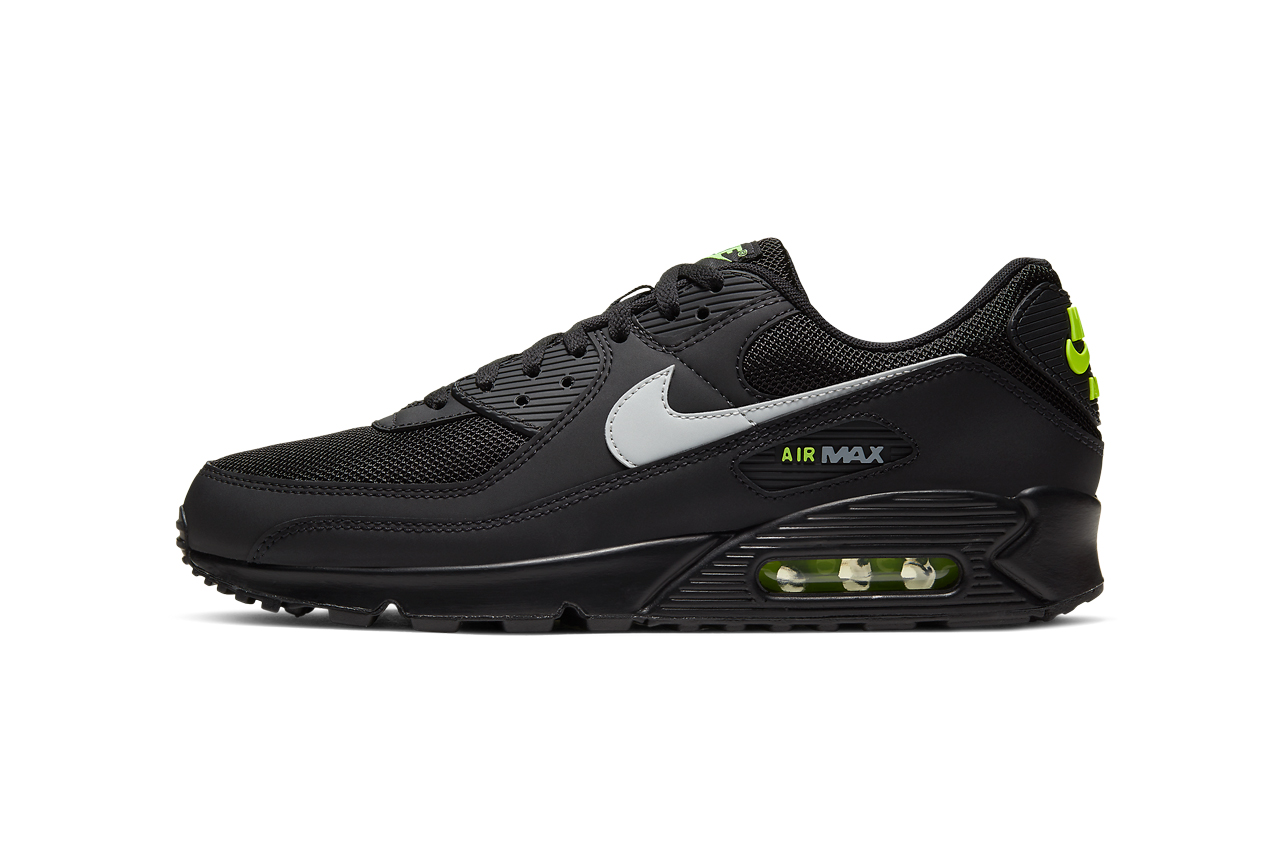 nike air max 90 black volt light smoke grey CV1634 001 release date info photos price