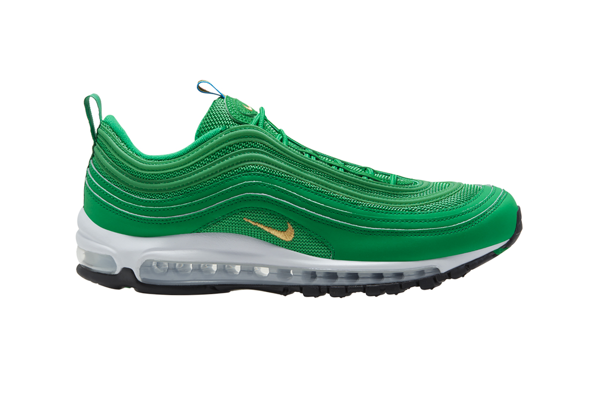 Nike Air Max 97 Lucky Green Release Info Buy Price Lucky Green Metallic Gold White Black CI3708-300