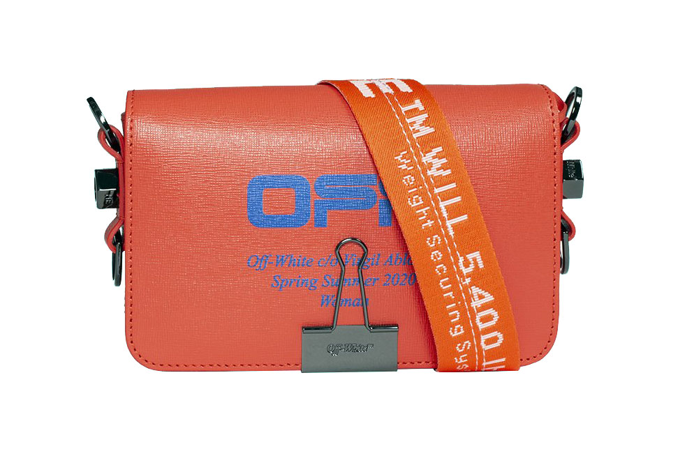 Off-White™ Coral Red Mini Flap Bag