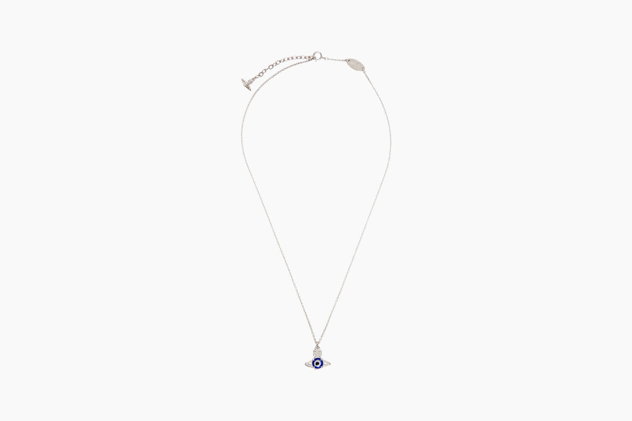 Vivienne Westwood Silver Crystal Small Orb Pendant Necklace