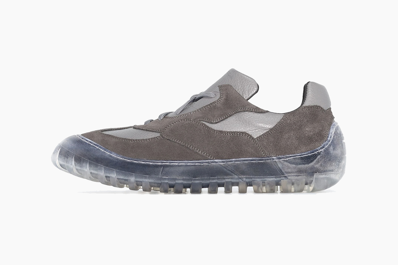 A-COLD-WALL* Grey Leather Paneled Low Top Sneakers