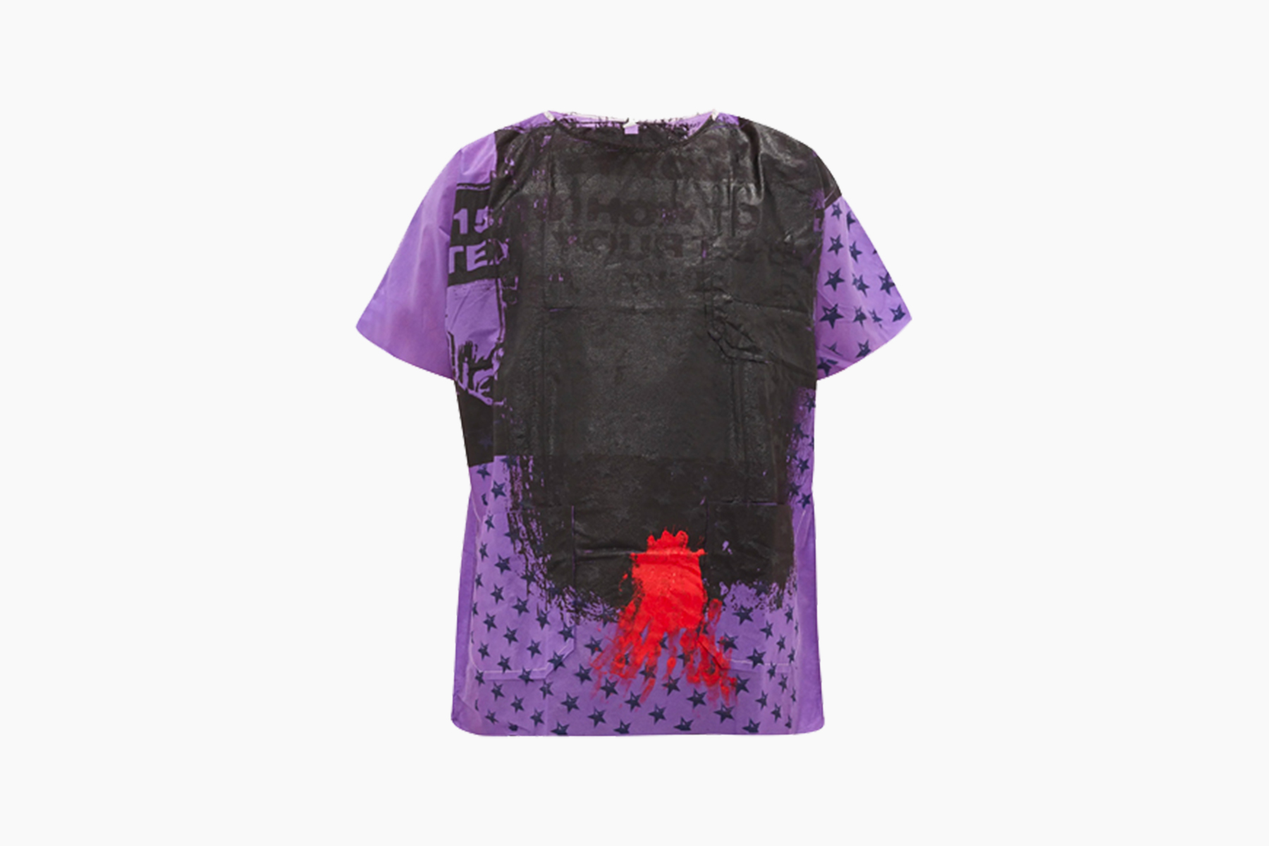 Raf Simons Hand Painted Hospital Gown T-Shirt