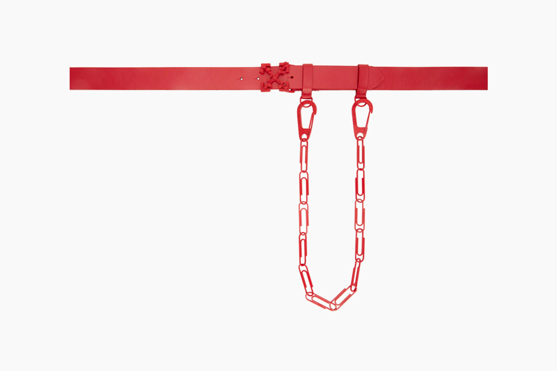 Off-White™ Red Leather Chain Belt