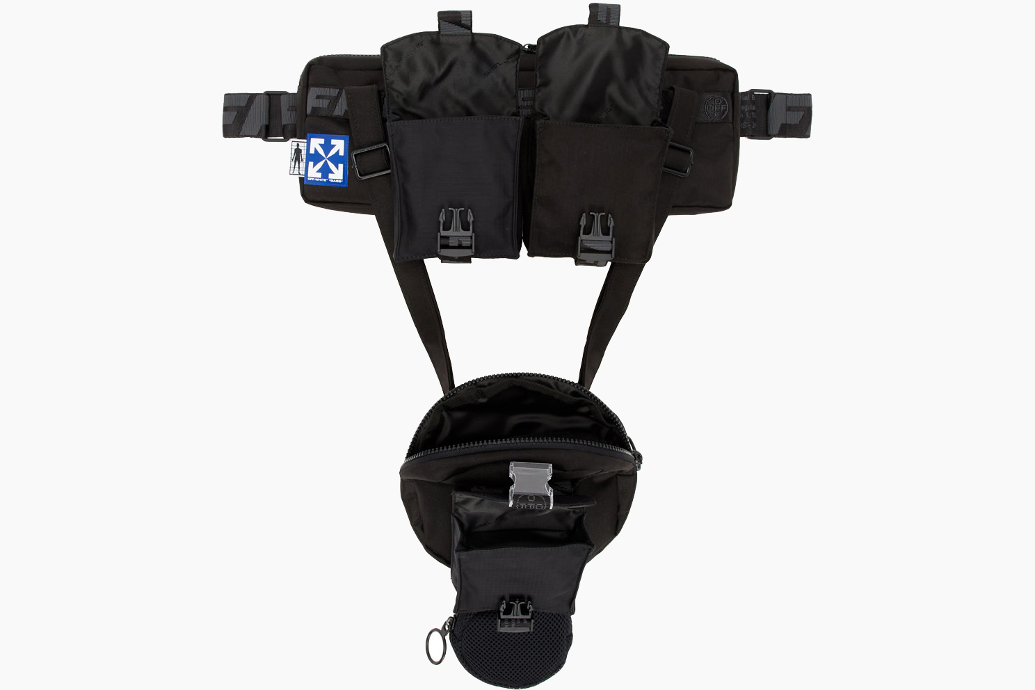 Off-White Black Combinable Fanny Pack Pouch
