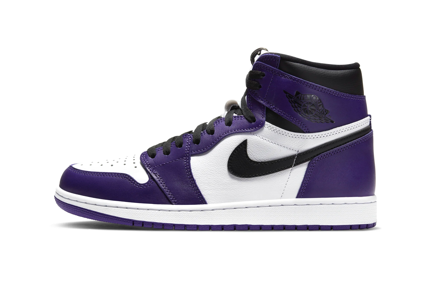 air jordan 1 low court purple grade school