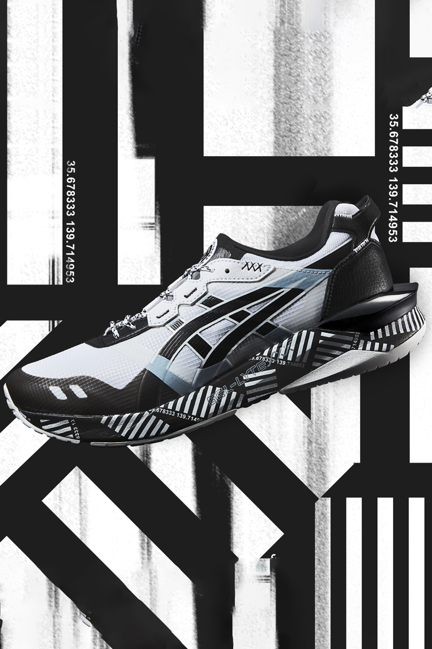 "Asics GEL-LYTE XXX ""White/Black"" Official First Look Closer Release Date Drop Information Foot District Futuristic Bulky Running Sole Unit Graphic Print Design Flytefoam"