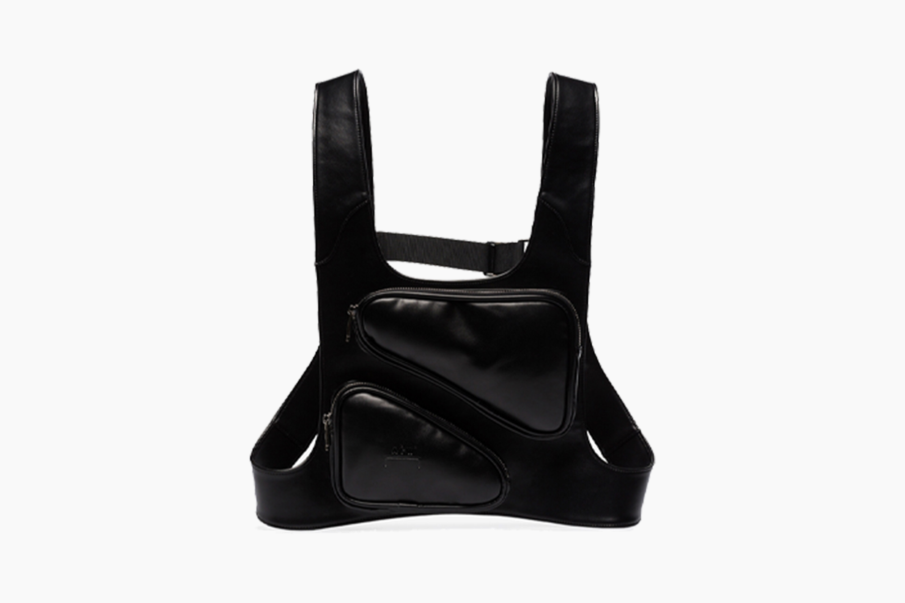 A-COLD-WALL* Black Leather Harness Bag