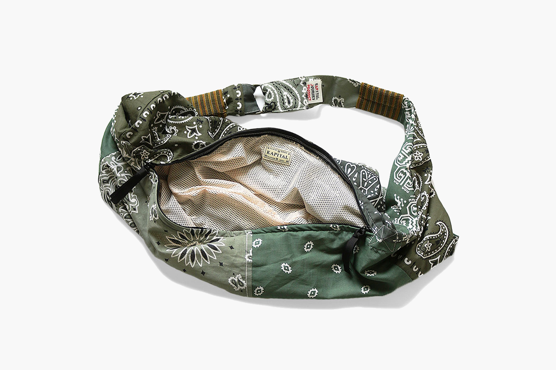 KAPITAL Vintage Gauze Bandana Beach Bum Bag