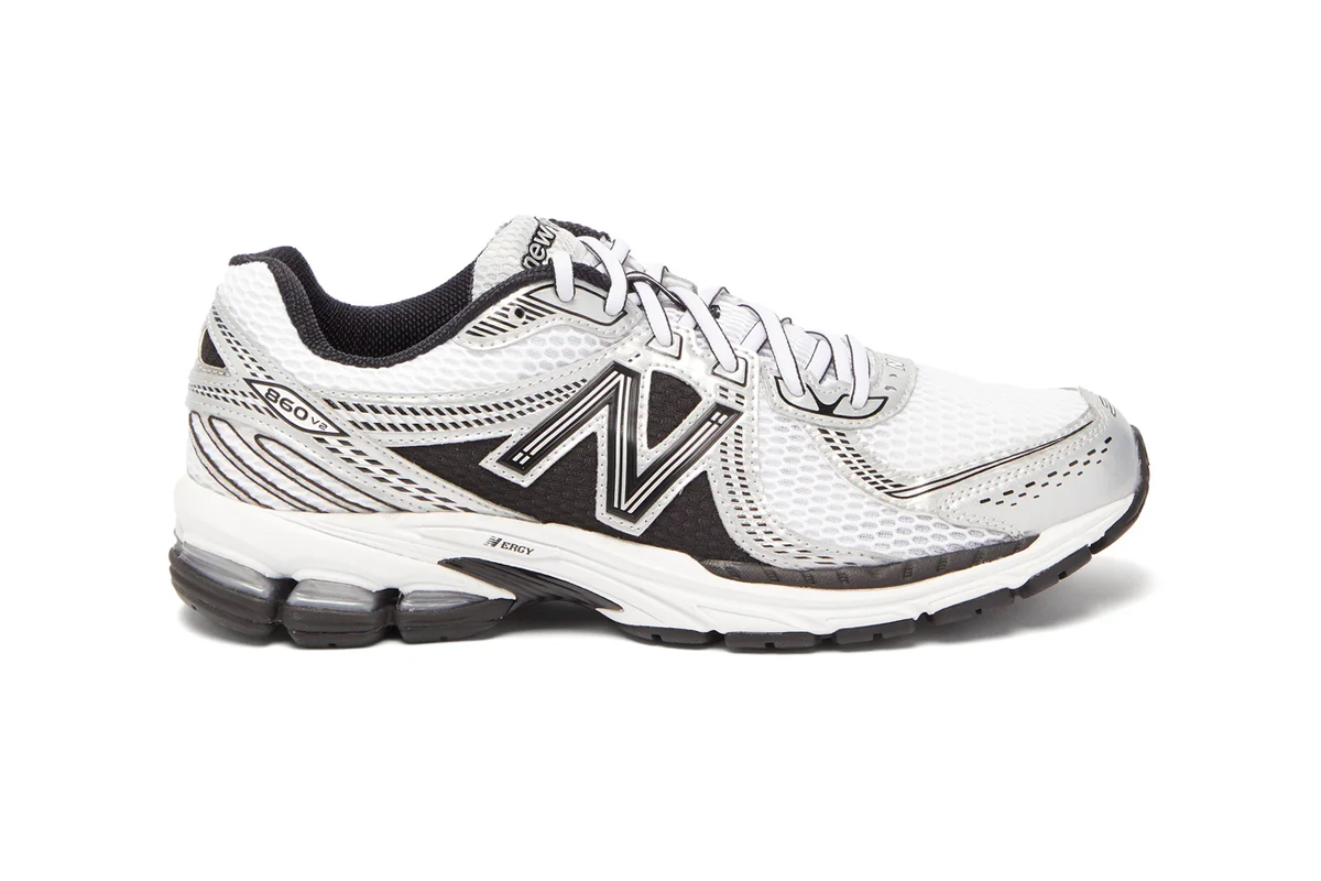 New Balance 860 V2 White menswear sneakers shoes footwear spring summer 2020 collection runners trainers kicks n ergy retro silhouette Fearlessly Independent Since 1906 mesh