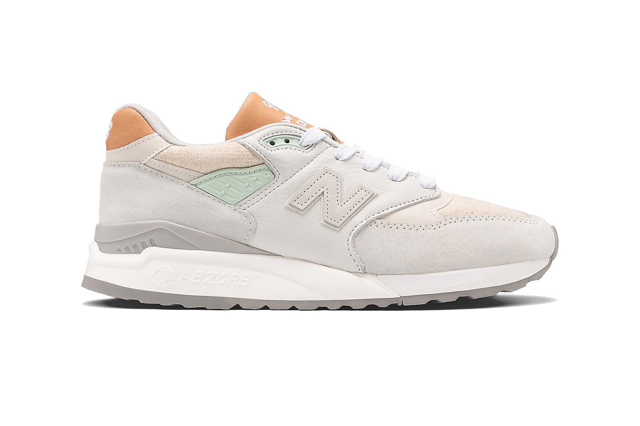 New Balance.com ML998V1 998 Made In US usa white tan mint green brown grey off