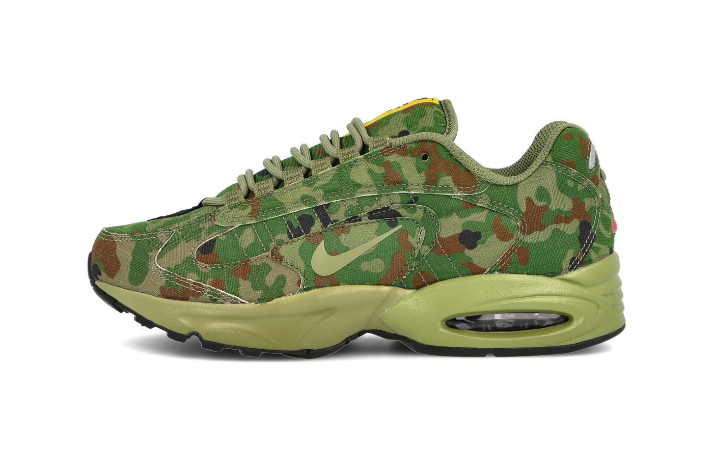 Nike Air Max Triax 96 SP Safari Thermal Green LT Chocolate Black frogskin camo CT5543 300 menswear streetwear shoes sneakers trainers runners spring summer 2020 collection