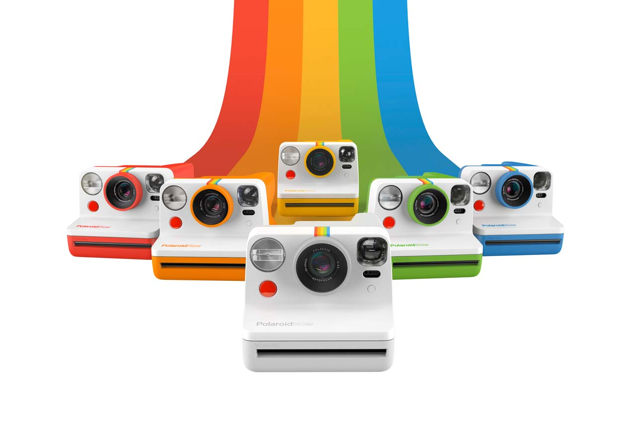 polaroid now new look Autofocus Instant Analog Camera Range white black red blue yellow orange green angular case