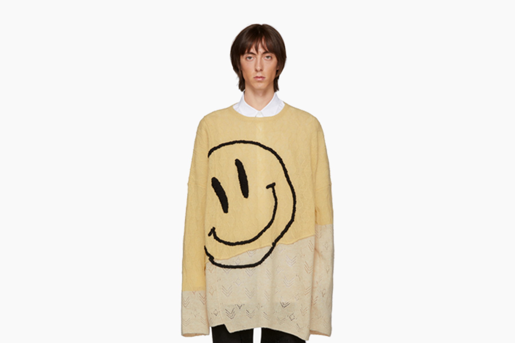 Raf Simons Oversized Collage Smiley Sweater