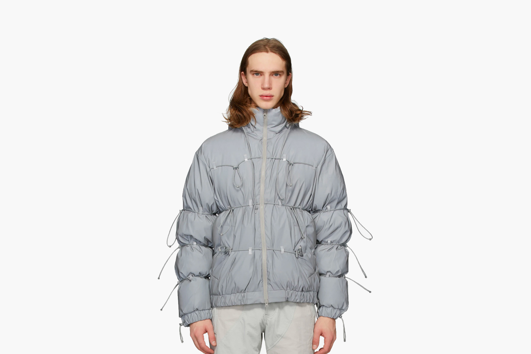 SSENSE Exclusive POST ARCHIVE FACTION Down Reflective String Jacket