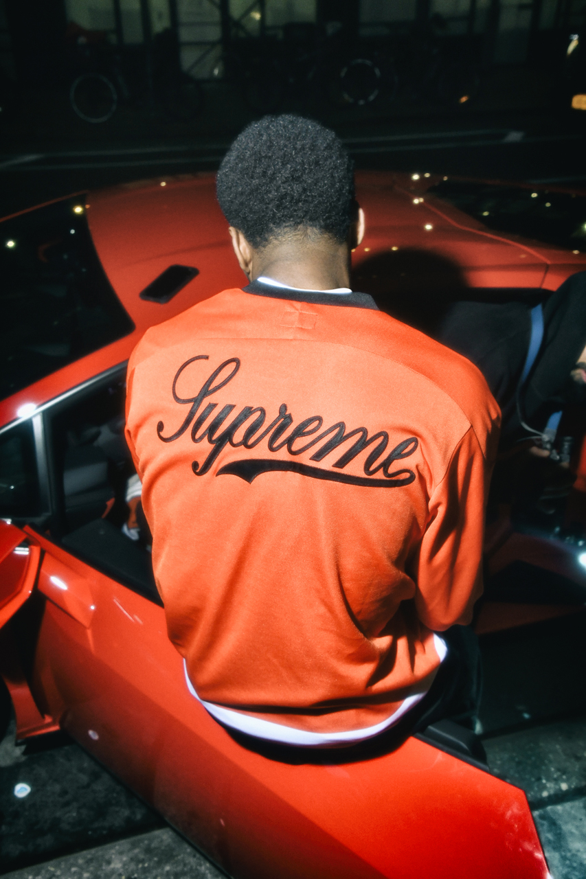 supreme Lamborghini spring 2020 collection Hooded Work Jacket S/S Shirt Hockey Jersey Coverall T-Shirt Skateboard Beanie release date info photos price