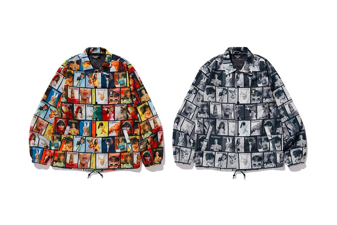 Playboy XLARGE 2020 Capsule collection menswear streetwear graphic prints illustrations collages t shirts tees hoodies sweatshirts pullover sweaters coach jackets coaches magazine