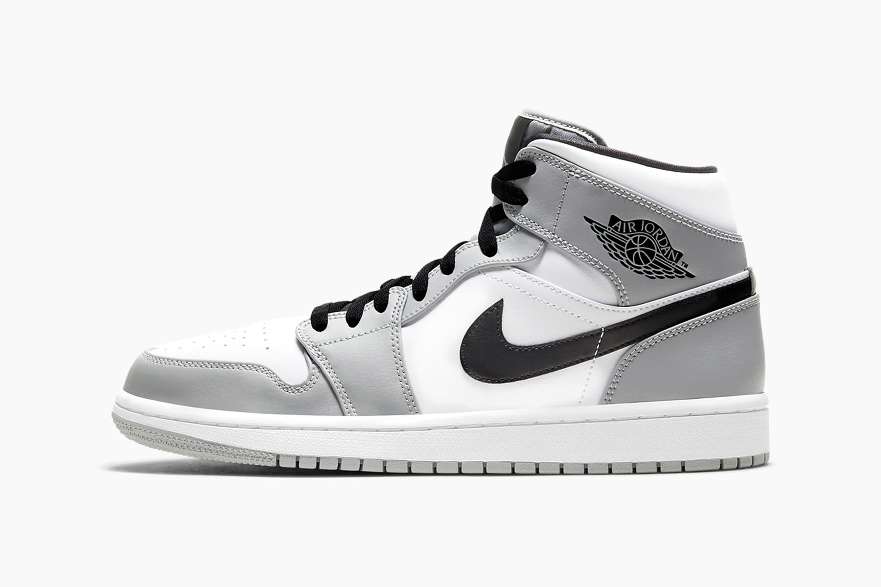 Air Jordan 1 Mid Light Ash White Black Release Hypebeast