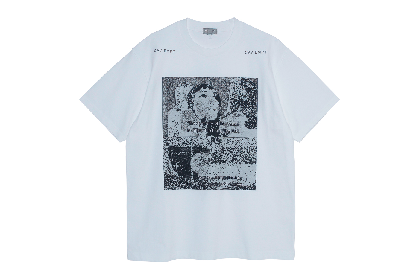 Cav Empt Drop 12 Spring/Summer 2020 Collection sk8thing toby feltwell japan streetwear LIVING ABSTRACTION T OVERDYE REFLECTION OF LIGHT T SOLID SEAM DENIM BEACH PANTS CAV EMPT WHITE LOW CAP