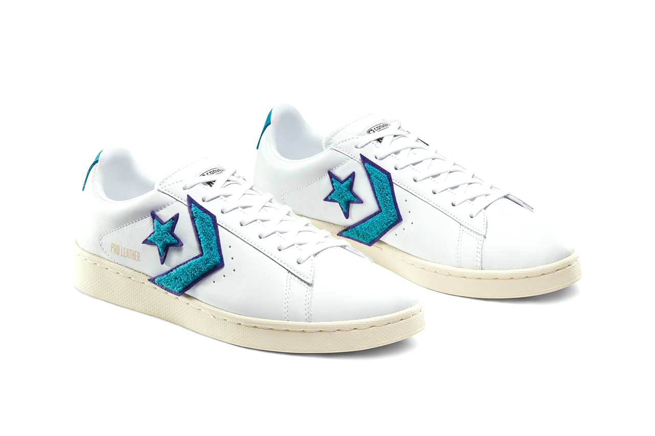 "Converse Pro Leather ""Through the Decades"" Pack Release Information '80s '90s '00s Basketball Hip-Hop Skateboarding Chenille Chevron Chuck 70 Inspiration Footwear Sneaker Drops Cons"
