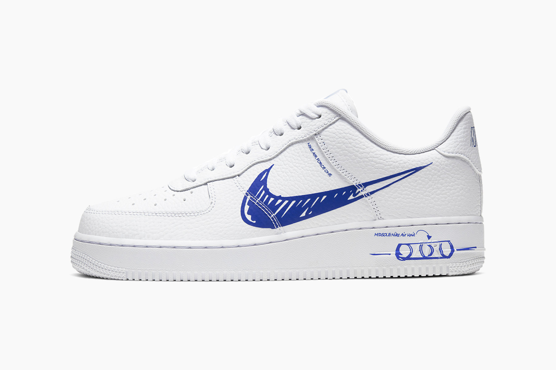 blue and white air force ones