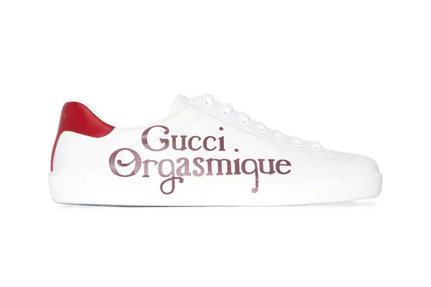 Gucci Orgasmique Red Low Top Ace Sneaker Alessandro Michele shoes kicks footwear low top gucci GG sneakers Italian Luxury
