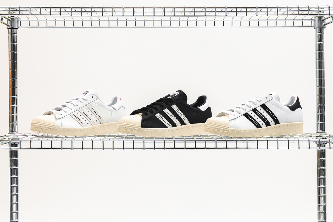 human made nigo adidas originals superstar 80 release information black white closer look details buy cop purchase gears for futuristic teenagers