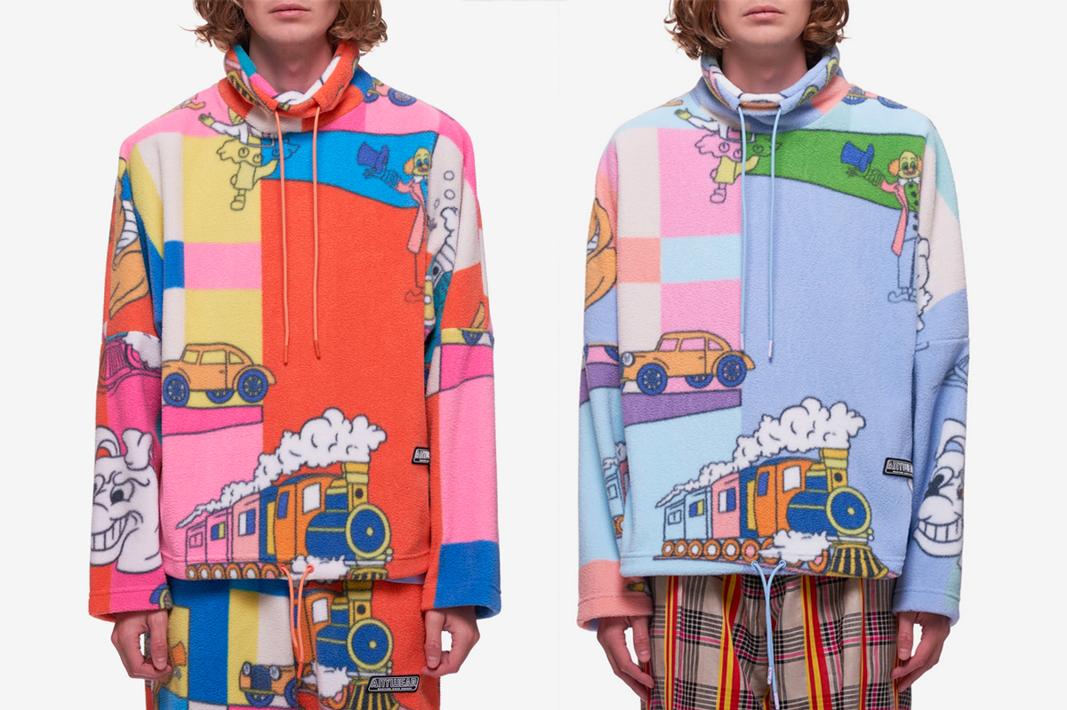 Martine Rose Cartoon Fleece Pullover