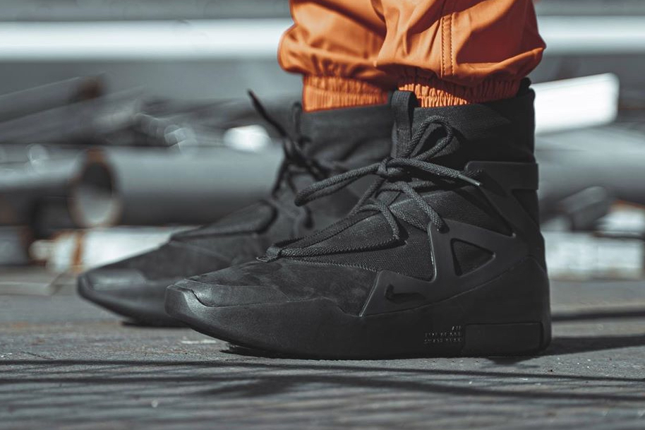 nike air fear of god 1 noir triple black jerry lorenzo fog AR4237 005 release date info photos price closer look