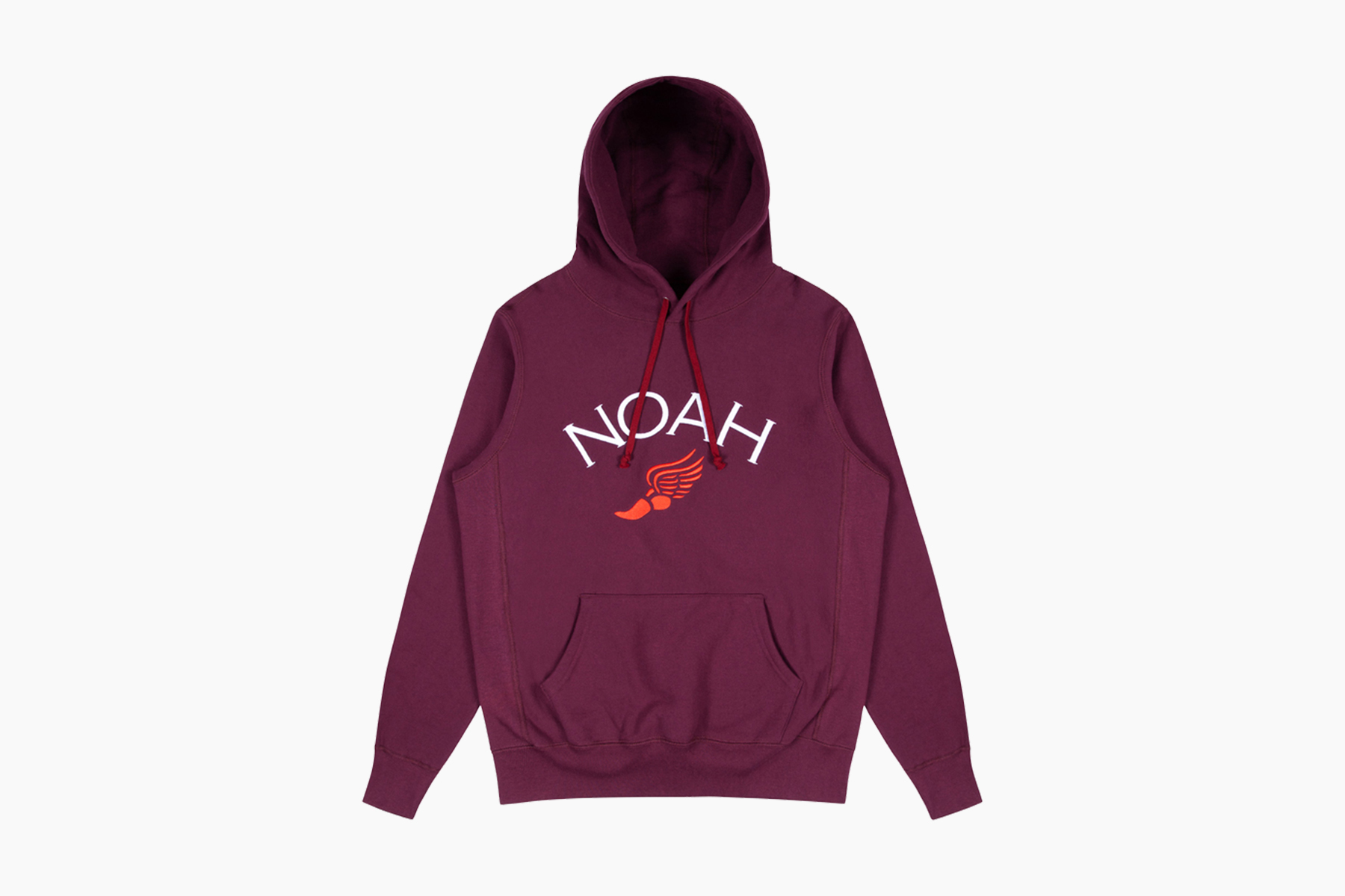 NOAH Embroidered Winged Foot Hoodie
