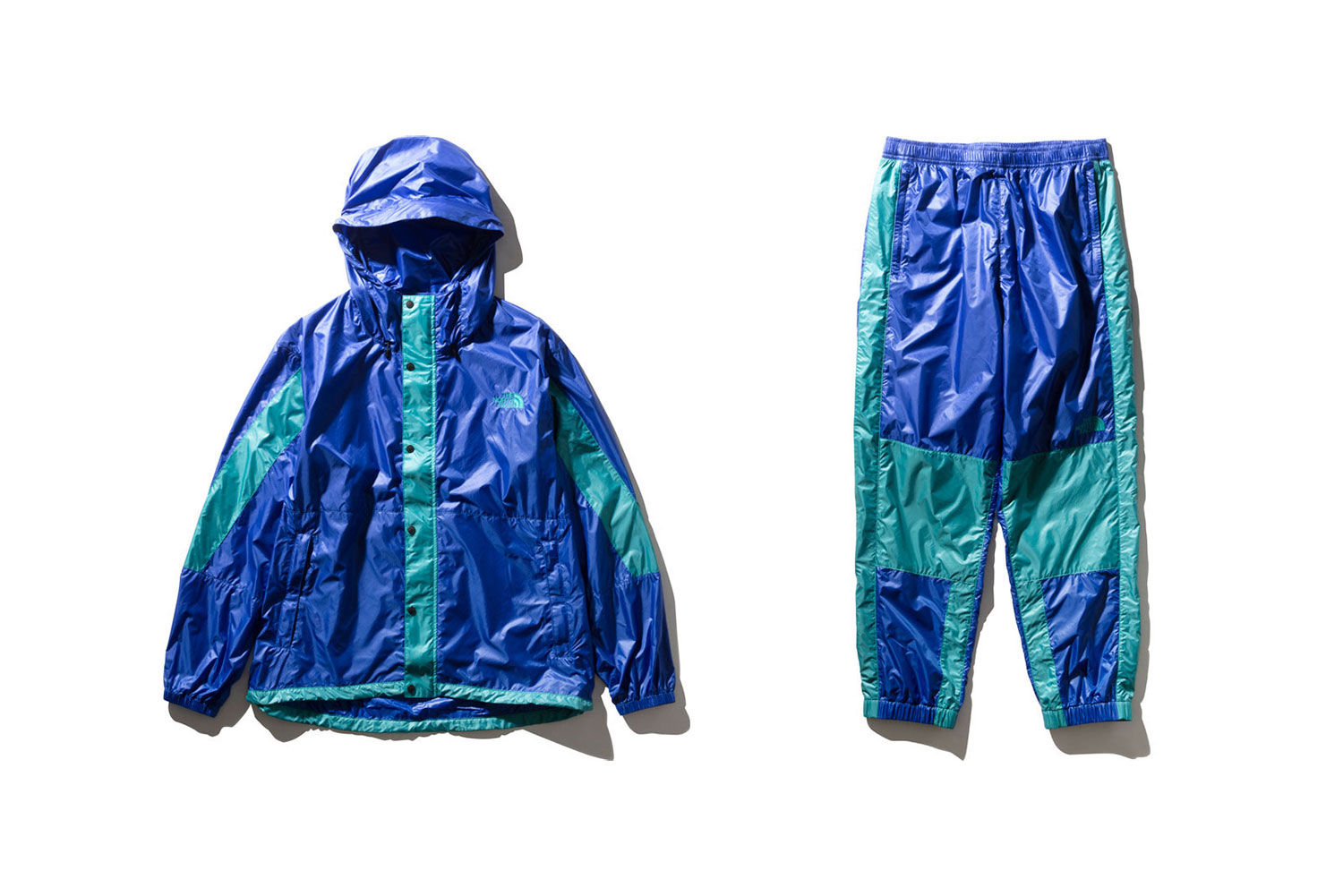 The North Face Bright Side Capsule Release PERTEX Quantum ECO up-cycled recycled nylon pants jackets outerwear pants windbreaker