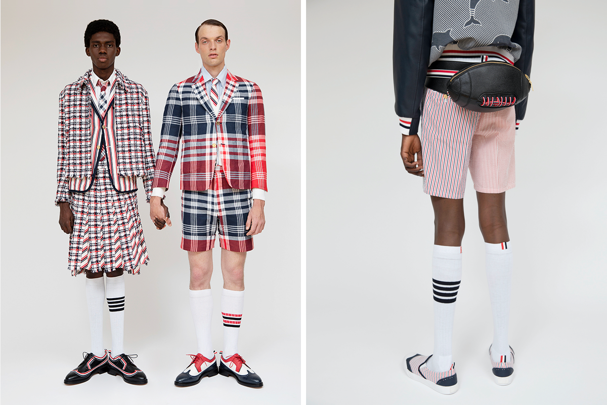 Thom Browne Seersucker Stripe Multi-Ball Icon Classic Sportsuit