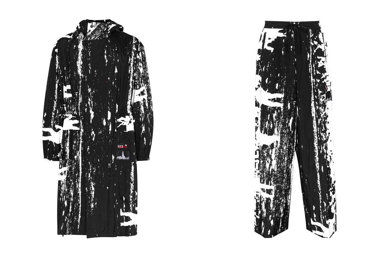 VIER x th Graphic Print Coat