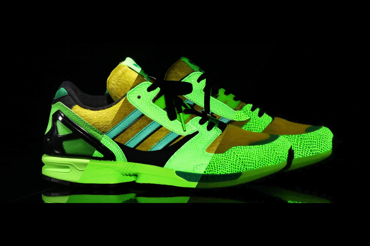 atmos adidas originals zx8000 g snk FX8593 glow in the dark snakeskin green black bbc icecream long sleeve t shirt crep protect waterproofer can release date info photos price store list