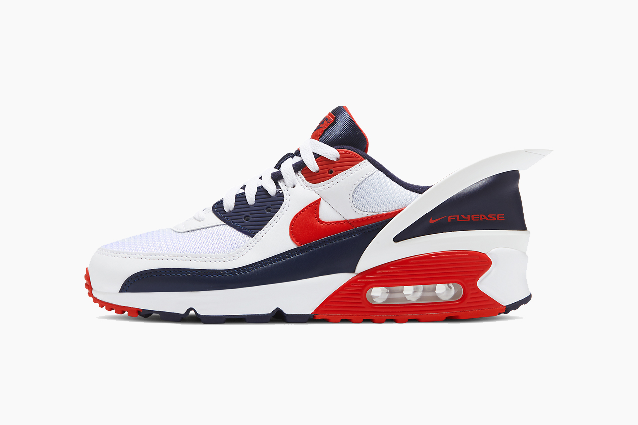 Nike Air Max 90 FlyEase White, Red Release Info | HYPEBEAST