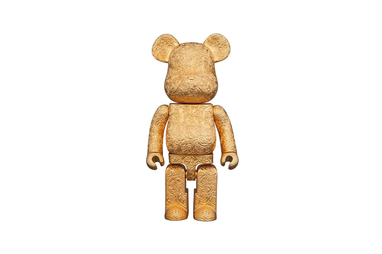 Royal Selangor Medicom Toy Golden BEARBRICK 400 collectible figure model toy japanese 1885 craftsmen hand sculpted arabesque carve
