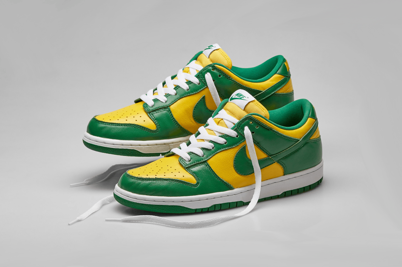 nike dunk lo brazil team pack sneakers trainers cop drop end clothing