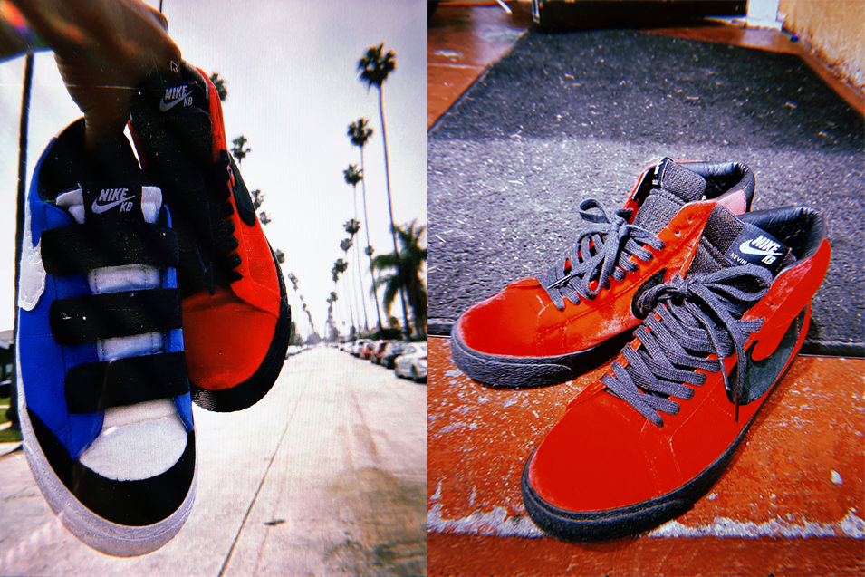 nike sb blazer kevin and hell bradley pack mid low velcro blue red black white official release date info photos price store list