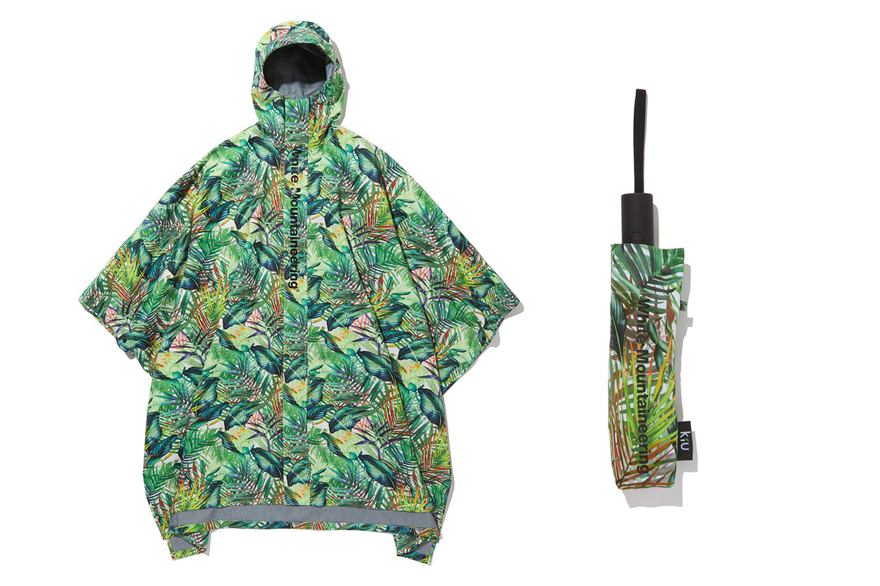 White Mountaineering SS20 Graphic Rain Ponchos, Umbrellas